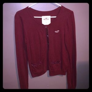 Hollister Cardigan Sweater Size Large